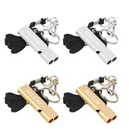emergency survival whistles metal double