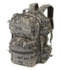 Mens Large Expandable ACU Digital Camo Tactical Molle 1.5L H