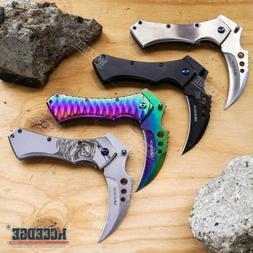 Fantasy Grim Reaper Pocket Knife Hunting Outdoor Survival Ge