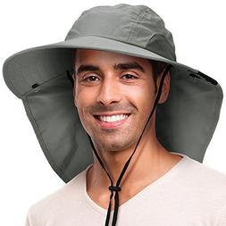 Solaris Outdoor Fishing Hat with Ear Neck Flap Cover Wide Br