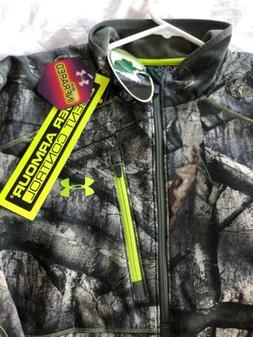Under Armour Fleece Camo 1/4 Zip Hunting Pullover XL Cold Ge