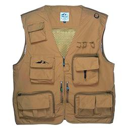 Outdoor Fly Fishing Vest with 16 Pockets. Breathable active