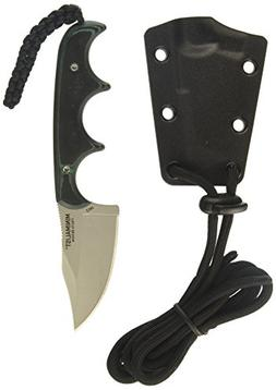 CRKT Minimalist Bowie Neck Knife: Compact Fixed Blade Knife,