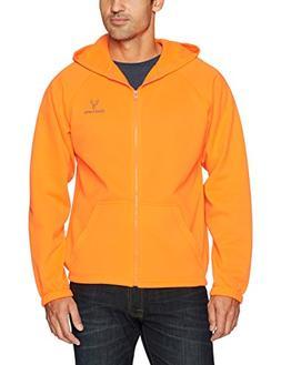 Huntworth Men's Knit Jersey Jacket With Hoodie, Blaze ,Mediu