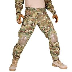 IDOGEAR G3 Combat Pants With Knee Pads MultiCam Black Airsof