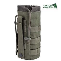 MILITARY UNIFORMS Outdoor Gear Mesh Flask Bag Drawstring Wat