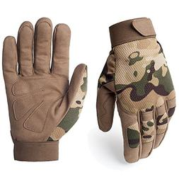 JIUSY Tactical Full Finger Gloves for Cycling Motorcycle Mot