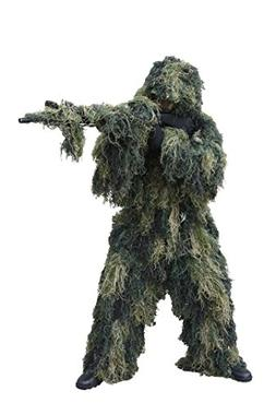 Red Rock Outdoor Gear 5 Piece Ghillie Suit, Woodland, X-Larg