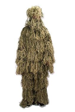 NINAT Ghillie Suit Desert Camo 3D Leafy Gear Jungle Hunting