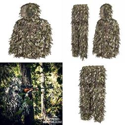North Mountain Gear Ghillie Suit Camo Hunting 3D Leafy Camou