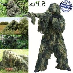 Gillie Ghillie Suit 5 Pc Woodland Camouflage Camo New Pants