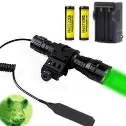 BESTSUN Green Light LED Coyote Varmint Predator Hunting Ligh