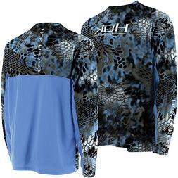 HUK H1200023NEPXL Huk Kryptek Icon Long Sleeve Shirt, Neptun