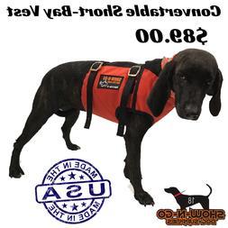 Hog Dog Hunting Cut Gear-Convertible Bay Vest- 1/2 Vest