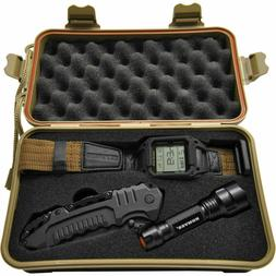 Humvee HMV-RCN-RM1 Recon Mission Kit with Digital Watch, Kni