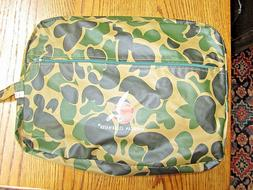 HUNTING CAMOUFLAGE RAIN WEAR GEAR 3 PC SET IN TRAVEL BAG-NEV