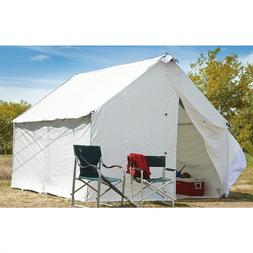 Hunting Canvas Wall Tent & Frame Guide Outfitter Spike Base