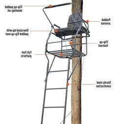 Hunting Deer Guide Gear 18' Ladder Tree Stand Flip-up Shooti