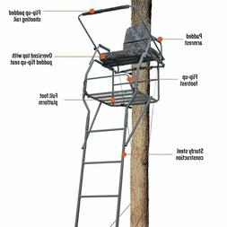 Hunting Deer Guide Gear 18' Ladder Tree Stand Flip-up Shooti