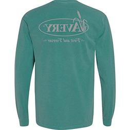 Avery Hunting Gear Signature L/S Tee - Sea Foam - Large
