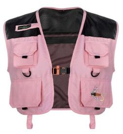 Lucky Bums Kid's Fishing and Outdoor Adventure Vest, Pink, S