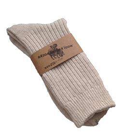 Lian LifeStyle Men's 3 Pairs Knitted Wool Crew Socks One Siz
