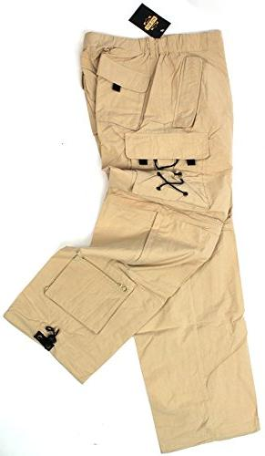 "GUIDE GEAR Khaki 10 Pocket Pants Medium 30"" Inseam NEW"