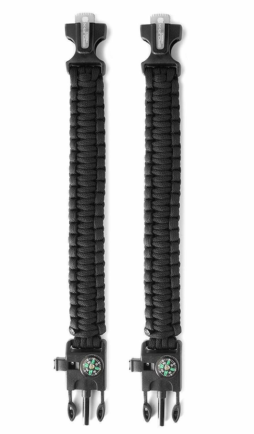 2 Paracord Fire Knife Lot 2
