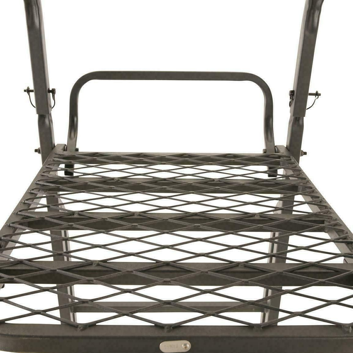 Guide 21 Double Rail Ladder Stand Armrest Deer Solid