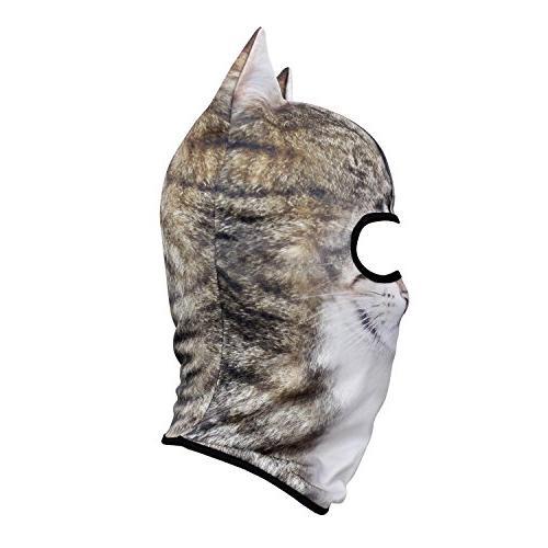 JIUSY Animal Ears Balaclava Face Mask Sun for Skiing Hunting Halloween Party