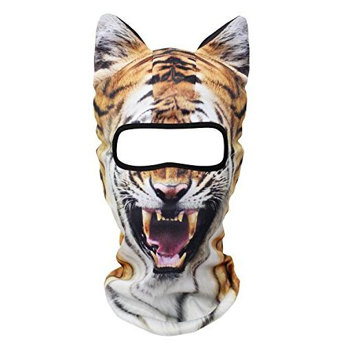 3d animal ears balaclava breathable