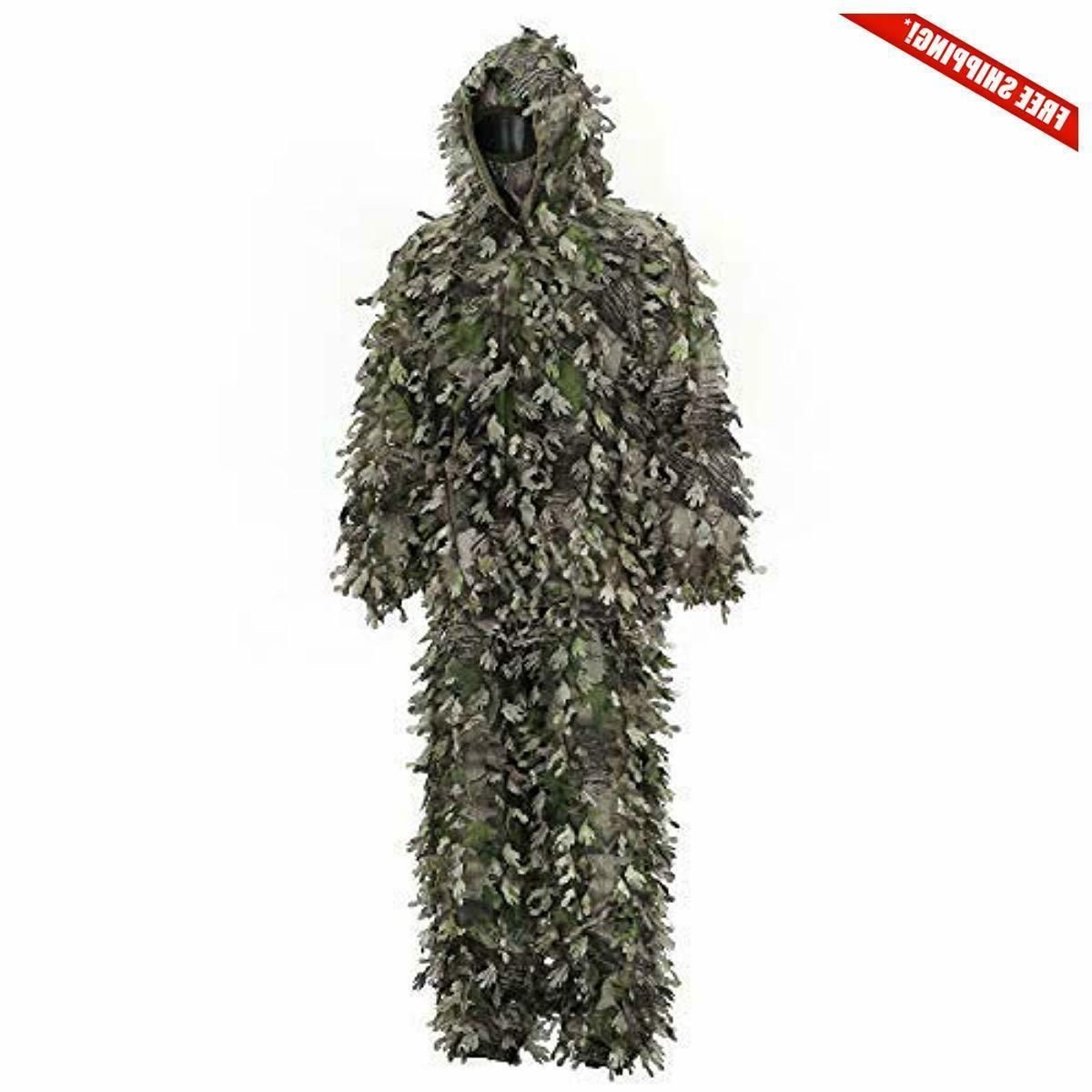 3d ghillie suit hunting camo lightweight breathable