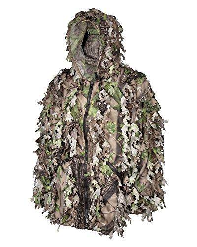 North Leafy Ghillie Woodland Camo Lightweight with Zippers in Legs