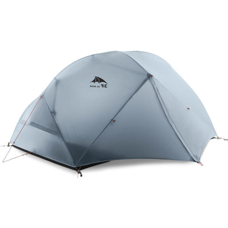 3F Person 4 Tent Outdoor Ultralight <font><b>Backpacking</b></font> 15D Zelt Tenten