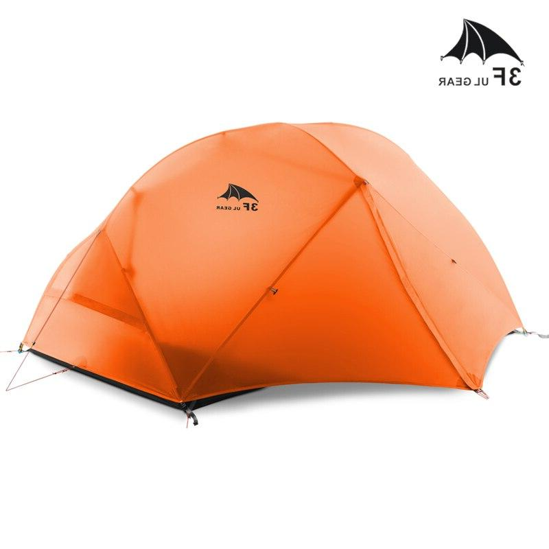 3F UL 2 Tent Ultralight <font><b>Backpacking</b></font> Waterproof 15D Silicone