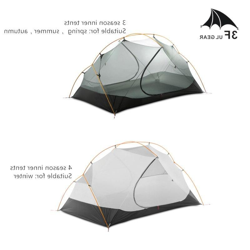 3F UL Person Tent Outdoor <font><b>Backpacking</b></font> Waterproof Tent 15D