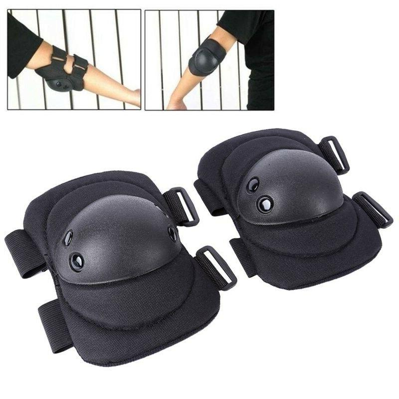 4 Knee Elbow Pad Protector Tactical Airsoft Combat