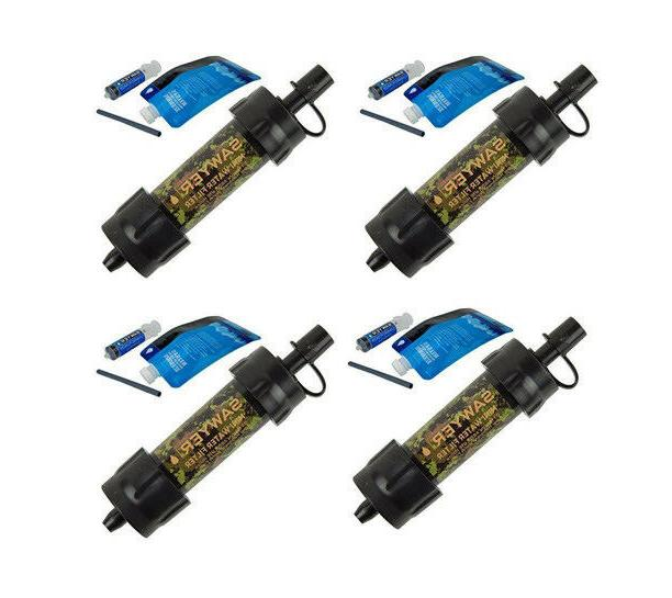 4 sawyer mini water filtration kit camo