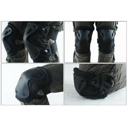 5color airsoft tactical knee and elbow pads