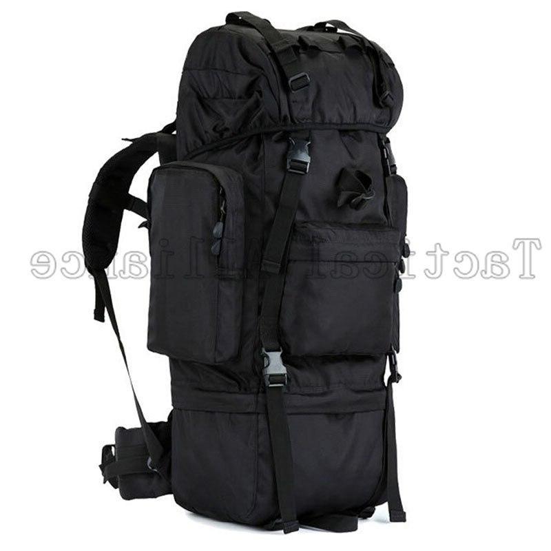 65L Waterproof Tactical Men Women Rucksack Backpack Camouflage <font><b>Hunting</b></font> Accessories