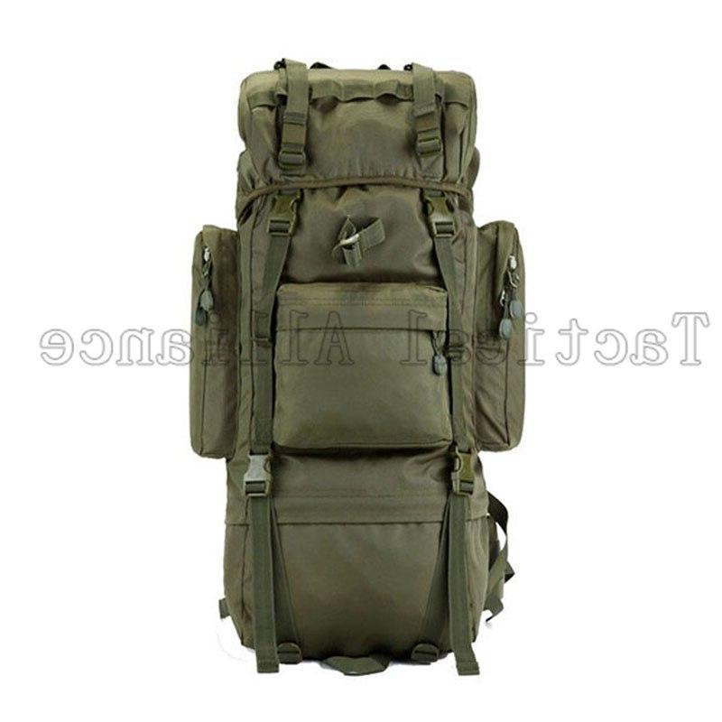 65L Molle Tactical Men Backpack Travel Camping Camouflage <font><b>Bag</b></font> <font><b>Hunting</b></font>