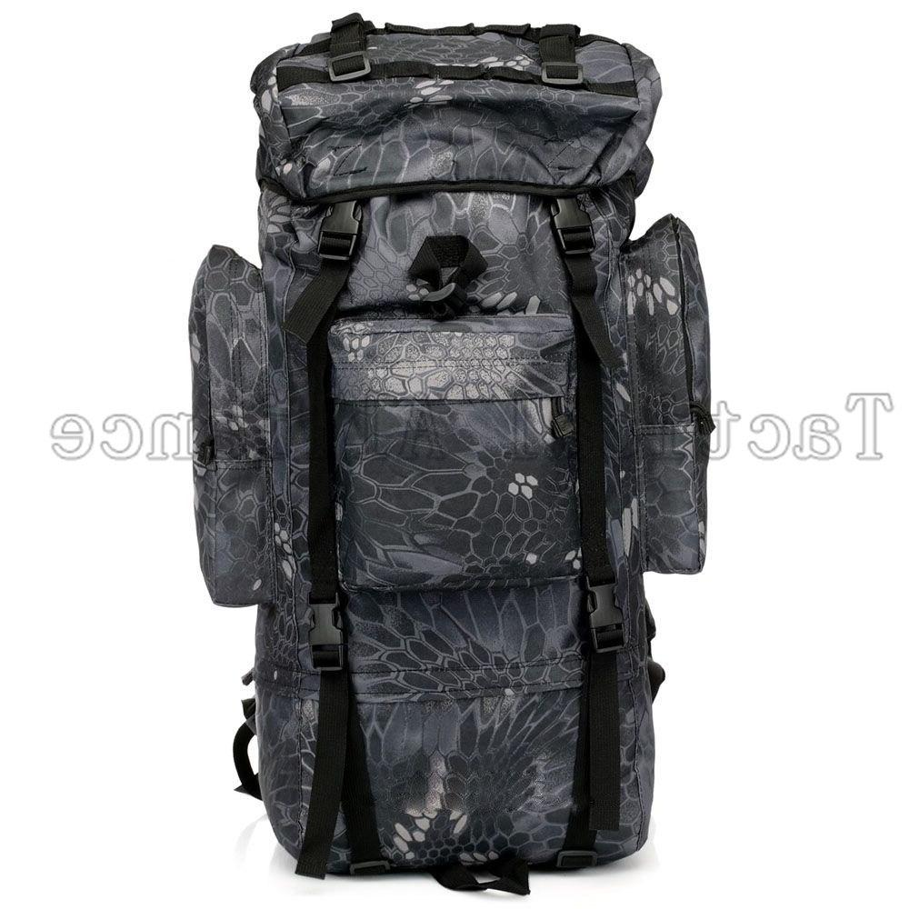 65L Waterproof Large Tactical Backpack Camping Camouflage Accessories