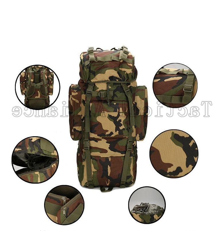 65L Waterproof Large Tactical Men Women Backpack Travel Camouflage <font><b>Bag</b></font> <font><b>Gear</b></font> Accessories