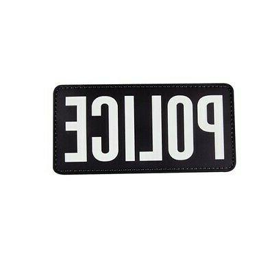 6614000 police black white pvc plastic hook