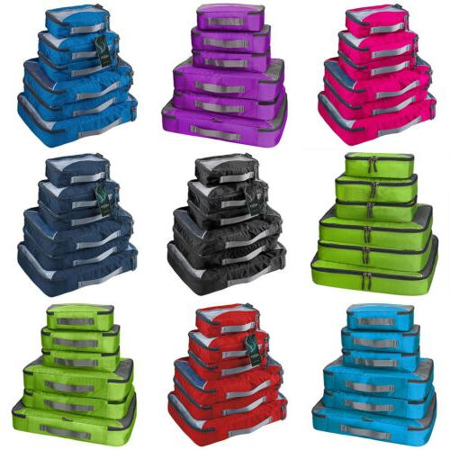 6Pcs Waterproof Travel Bags Clothes Cube Luggage Organizer Pouch