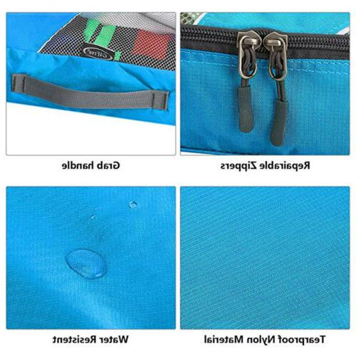 6Pcs Waterproof Travel Storage Bags Cube Luggage Organizer Pouch