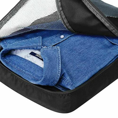 6Pcs Travel Bags Clothes Cube