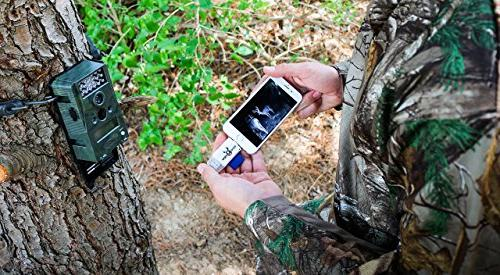 BoneView SD MicroSD Reader iOS, Trail Deer Scouting Video & Memory on 5, 6, 8, X - Lightning