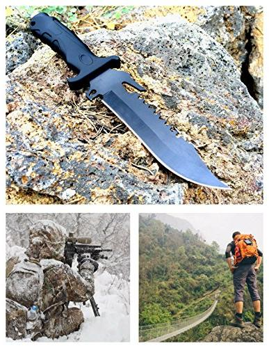 DAX Fixed Hunting Very 420 Steel 7 Inch Blade, Overall, Low Rate, Sheath Great Gear