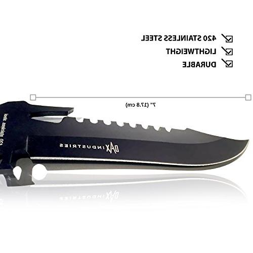 DAX Industries: Fixed Blade, Hunting Very Sharp, 420 Steel Blade, Low Sheath Great Outdoor